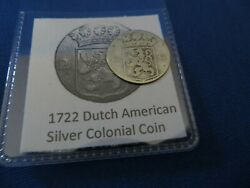 1722 Silver Early American Colonial Coin Before Us Minted Coins Free Shipping