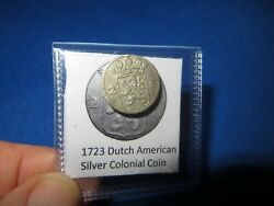 1724 Silver Early American Colonial Coin Before Us Minted Coins Free Shipping