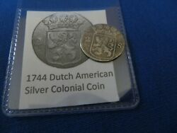1744 Silver Early American Colonial Coin Before Us Minted Coins Free Shipping