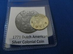 1771 Silver Early American Colonial Coin Before Us Minted Coins Free Shipping