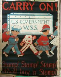 Dorothy Glogston Carry On Us Government Wss Wwi Poster C 1918 Rare