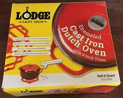 Lodge 6qt Cast Iron Enamel Dutch Oven Red Local Pickup Onlyno Shipping