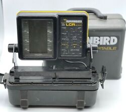 Humminbird Lcr 4000 Portable Fishfinder Sonar With Case Transducer Used Tested