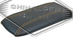 Center Console Lid Armrest For Ford Explorer Mountaineer Black/gold Stitch
