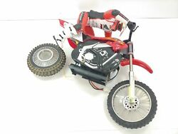 RARE Ricky Carmichael Radio Shack RC Motorcycle FOR PARTS $49.99