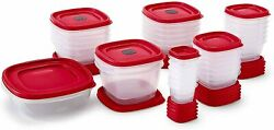 Rubbermaid Easy Find Vented Lids Food Storage Containers, Set Of 30 60 Piece