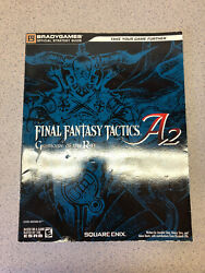 Final Fantasy Tactics A2 Grimoire Of The Rift Bradygames Strategy Guide Used
