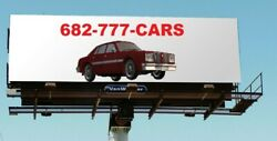 Dallas / Ft Worth Automotive Vanity Phone Number For Car Dealers 682 777-cars