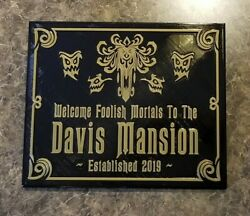 12 Personalized Haunted Mansion Inspired Home Welcome Plaque W/ Family Name