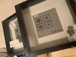 Lot Of 3 Ikea Ribba 9x 9 Picture Photo Frames Black New