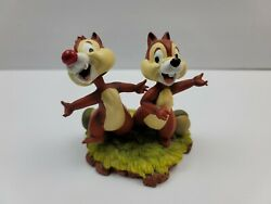 Walt Disney Parks And Resorts Chip And Dale Bobble Head Figurine - New