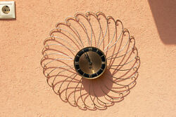 Welby Sunrays Vintage, American, Wind-up Wall Clock