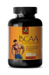Bcaa Capsules - Bcaa 3000mg - Pre Workout Supplements - 120 Tablets