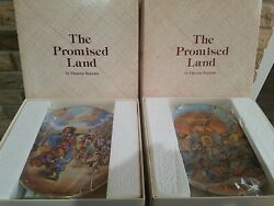 Set Of 12 The Promised Land Collectible Plates Yiannis Koutsis