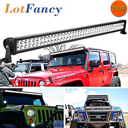 42inch 240w Spot Led Light Bar Offroad For Jeep Ford 4wd Suv Atv 40 200w