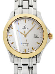 Omega Seamaster 120m Menand039s Quartz Ss/yellow Gold/glass 36mm Battery Replaced