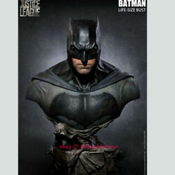 Queen Studios Batman 1/1 Life Size Bust Resin Statue Justice League Rooted Hair