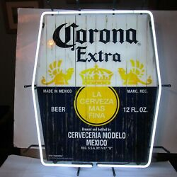 Corona Beer Of Mexico Back Lit Neon Sign Super Rare Made In Us Large Version