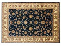 Afghan Chobi Ziegler Carpet Hand Knotted 250x350 Blue Floral Pattern Wool