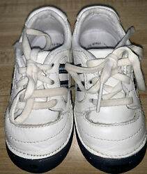 Stride Rite Eaglet Toddler Boy Leather White And Blue Shoes Sneakers 5.5w