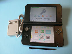 Nintendo 3ds Xl Black System W/charger Free Shipping