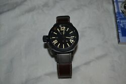 U-boat Classico 8107 Black Ceramic Mens Watch 48mm Leather Strap Boxed Excellent