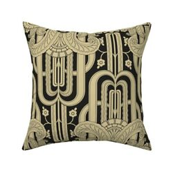 1920s 1930s Art Deco Cubism Throw Pillow Cover W Optional Insert By Roostery