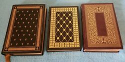 Lot Of 3 Franklin Library Books