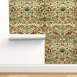 Peel-and-stick Removable Wallpaper Strawberry Cream Arts Victorian Edwardian