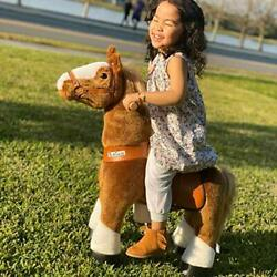 Official Classic U Series Ride On Horse Toy Plush Walking Animal Brown Small
