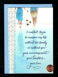 FATHER#x27;S DAY Couple Beach FOR HUSBAND RELIGOUS Greeting Card W TRACKING $2.95