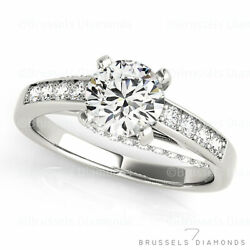 1.03 Ct Natural Diamond Solitaire Engagement Ring Round H/si2 14k White Gold