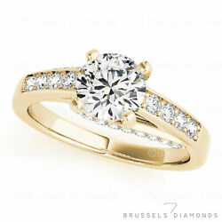 1.03 Ct Natural Diamond Solitaire Engagement Ring H/si2 Round 14k Yellow Gold