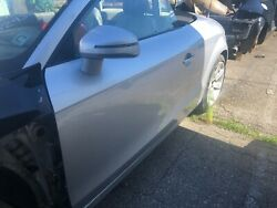 Audi Tt Mk2 Driver Door Shell Complete With Window Mirror And Harness