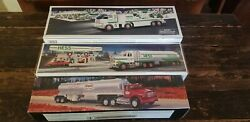 Lot Of 2 Hess Tanker Toy Trucks 1990 2006 W Boxes And 1995 Texaco Toy Tanker