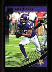 2018 Donruss Black 179 Dalvin Cook /10 2nd Year Vikings Super Clean No Chipping