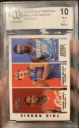2003-04 Fleer Tradition Lebron James Rookie Carmelo Anthony Rookie Rc Bccg 10