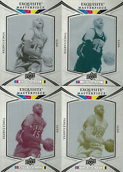 2008-09 Vince Carter Ud Exquisite Masterpiece Printing Plate Set New Jersey Nets