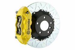 Brembo Gt Brakes Rear 4 Pot Yellow Slotted Type-3 345x28 2pc For 01-06 M3 E46