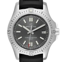 Breitling Colt Grey Dial Automatic Steel Mens Watch A17313 Box Papers