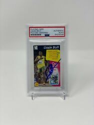 Usain Bolt Signed Trading Card Psa Trumps Auto Authentic Olympics Gold Medal