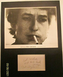 Bob Dylan Saturday Night Live 1979 Sign Autograph Card With Photo Classic