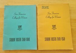 Student Roster San Francisco College For Women 1948 1949 And 1949 1950 History G