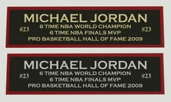 Michael Jordan Color Nameplate For Signed Autographed Basketball Photo Jersey