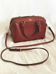 used and authentic red crossbody coach bag $80.00