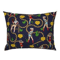 Texas Tattoo Southwest Cowgirl Retro Roses Cacti Cactus Pillow Sham By Roostery