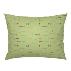 Armory Maces Axes Swords Weapons Weaponry Medieval Pillow Sham By Roostery