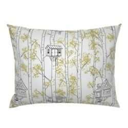 Tire Swing Window Box Childrens Nostalgic White Tree Pillow Sham By Roostery