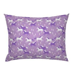 Horses Horse Pony Purple Girly Cowgirl Pillow Sham By Roostery