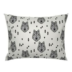 Wolf Wolves Grey Wolf Animal Head Boys Pillow Sham By Roostery